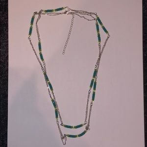 Jewelry: Long Delicate Chain Necklace with Beading